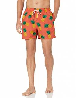 "28 Palms 4.5"" Inseam Tropical Hawaiian Print Swim Trunk Badehose, Coral Pineapple, X-Large von 28 Palms"