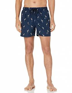 "28 Palms 4.5"" Inseam Tropical Hawaiian Print Swim Trunk Badehose, Navy/Pink Flamingo, Small von 28 Palms"