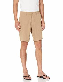 "28 Palms 9"" Inseam Hybrid Board shorts, Khaki Heather, 34 von 28 Palms"