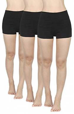 4How 3er Pack Kurze Sporthose Damen kurz Sport Leggings Schwarz Sport Shorts Laufshorts Sommer Fitness Yoga Panties L von 4How