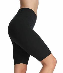 4How Kurze Leggings Sporthose Sport Shorts Schwarz Jogginghose Sommerlegging Damen 1/2 Tights Radlerhose Fitness Yoga Gym Shorts,XL von 4How