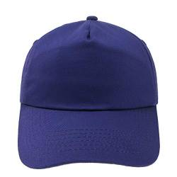 4sold Junior Original 5 Panel Cap Unisex Jungen Mädchen Mütze Baseball Cap Hut Kinder Kappe (Purple) von 4sold
