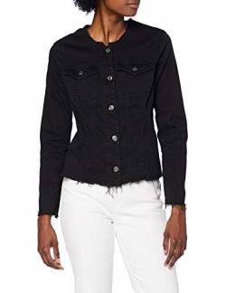7 For All Mankind Womens Denim Jacket, Black, M von 7 For All Mankind