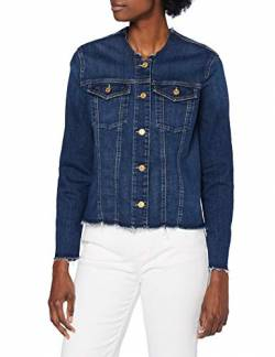 7 For All Mankind Womens Denim Jacket, Mid Blue, M von 7 For All Mankind