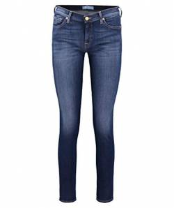 7 for all mankind Damen Skinny Jeanshose THE, Gr. W27/L30 (Herstellergröße: 27), Blau (Bair Duchess 0DD) von 7 For All Mankind