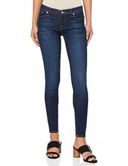 7 for all mankind Damen Skinny Jeanshose THE, Gr. W27/L30 (Herstellergröße: 27), Blau (Bair Rinsed Indigo 0HA) von 7 For All Mankind