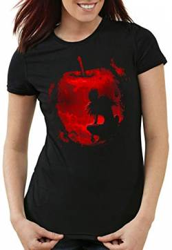 A.N.T. Shinigami Apfel Damen T-Shirt Death Manga Anime Note, Größe:M von A.N.T. Another Nerd T-Shirt