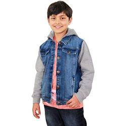 A2Z 4 Kids Kinder Jungen Denim Jacken Dunkel Blau Designer - Boys Denim Jacket JK15 Dark Blue_11-12 von A2Z 4 Kids
