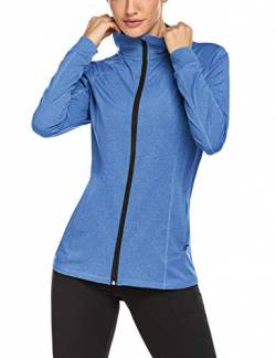 ADOME Damen Sport Shirt Langarm Laufshirt Fitness Sweatshirt Sportjacke Trainingsjacke Laufjacke Trainings Top Funktionsshirt Fitness von ADOME