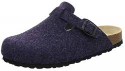 AFS-Schuhe Herren Hausschuhe geschlossen aus Filz, Bequeme, warme Winter Clogs, Made in Germany, 36900 (41 EU, Navy) von AFS-Schuhe