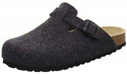 AFS-Schuhe Herren Hausschuhe geschlossen aus Filz, Bequeme, warme Winter Clogs, Made in Germany, 36900 (46 EU, anthrazit) von AFS-Schuhe