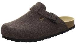 AFS-Schuhe Herren Hausschuhe geschlossen aus Filz, Bequeme, warme Winter Clogs, Made in Germany, 36900 (47 EU, braun) von AFS-Schuhe