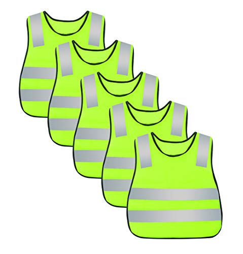 AIEOE 5 St/ück Warnweste Set Atmungsaktive Sicherheitweste Unisex Pannenweste Reflektierende Schutzweste Einheitsgr/ö/ße