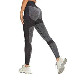 AINIC Sport Leggins Damen Hohe Taille Yoga Seamless Tights,Blickdicht Sporthose Seamless Fitnesshose Sportleggins Yogahose,Booty Lifting Scrunch Booty Leggins Training Laufhose für Freizeit Fitness von AINIC