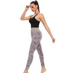 AINIC Hohe Taille Damen Sport Leggings Yoga Sport Tights,Blickdicht Sporthose Seamless Fitnesshose Sportleggins Yogahose,Booty Lifting Scrunch Booty Leggins Training Laufhose für Freizeit Fitness von AINIC
