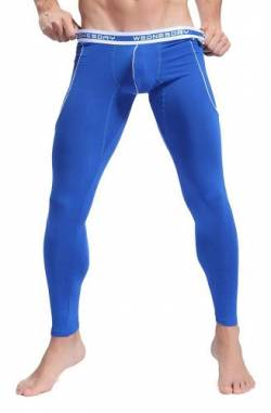 ARCITON Herren Low Rise Leggings Long Johns Thermo Pant - Blau - Large von ARCITON