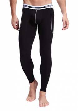ARCITON Herren Low Rise Leggings Long Johns Thermo Pant -  Schwarz -  Large von ARCITON