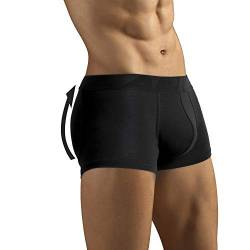 ARIUS Boxer-Unterhose mit Füllung in der hinteren - erweitert das Volumen und die Größe vom Gesäß - Men's Padded Buttocks - Men's Shapewear - Push UP Herren (L) von ARIUS
