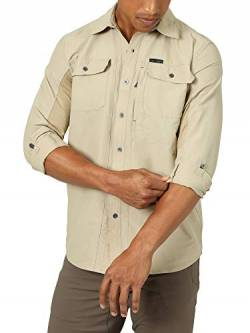 ATG by Wrangler Herren Men's Long Sleeve Mixed Material Shirt Hemd, Twill, X-Groß von ATG by Wrangler