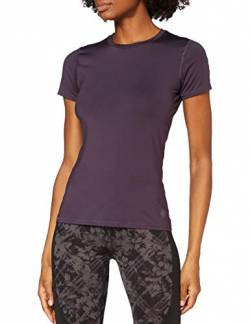 Amazon-Marke: AURIQUE Damen Sporttop-Shirt mit Mesh-Einsätzen, Lila (Nightshade), 36, Label:S von AURIQUE
