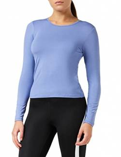 Amazon-Marke: AURIQUE Damen Langärmeliges Sporttop mit weichem Material, Blau (Colony Blue), 36, Label:S von AURIQUE