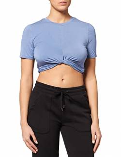 Amazon-Marke: AURIQUE Damen Verkürztes Sporttop mit weichem Material, Blau (Colony Blue), 42, Label:XL von AURIQUE