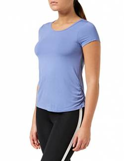 Amazon-Marke: AURIQUE Damen Superweiches Sporttop, Blau (Colony Blue), 40, Label:L von AURIQUE