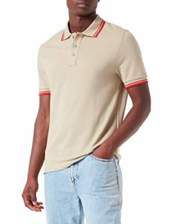 Activewear Polo Shirts Herren, Grün (Khaki/classic Red), Large von Activewear