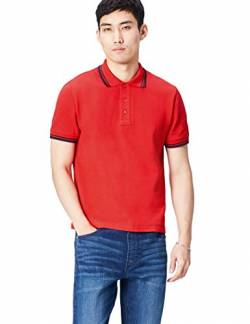 Activewear Polo Shirts Herren, Rot (Classic Red/navy), Large von Activewear