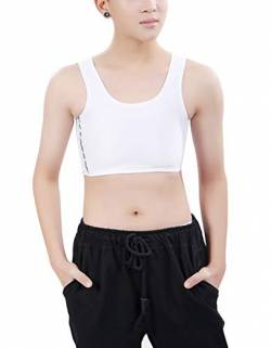 Aivtalk Cosplay Body Shaper Korsetts Weste Tomboy Lesbian Kurz Brust Binder Atmungsaktiv Tank Top mit 3 Reihen Buckle von Aivtalk