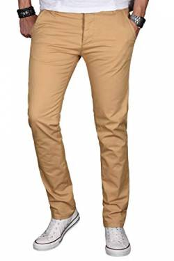 d44f09ce6b7a7c A. Salvarini Herren Designer Chino Stretch Stoff Hose Chinohose Regular Slim  mit Elasthananteil AS024 [