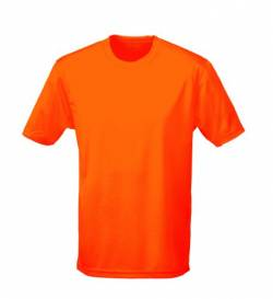 Just Cool - Performance T-Shirt, atmungsaktiv M,Electric Orange von All We Do Is