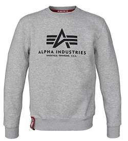 Alpha Ind. Basic Sweater grey heather - XXL von Alpha Ind.