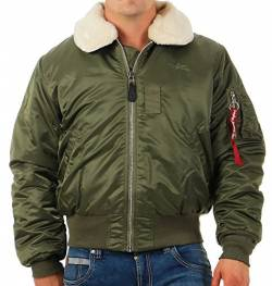 ALPHA INDUSTRIES Herren 100107-1-m Jacke, Grün (Sage/Green 1), Medium von ALPHA INDUSTRIES