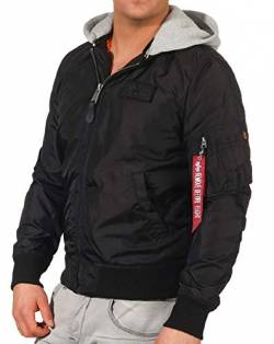 ALPHA INDUSTRIES Herren Bomberjacken Ma-1 TT schwarz M von ALPHA INDUSTRIES