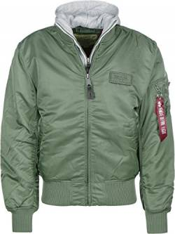 Alpha Industries Herren Fliegerjacke MA-1 D-Tec, Green, Gr. S von Alpha Industries
