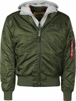 Alpha Industries Herren Fliegerjacke MA-1 D-Tec, Grün (rep.grey 257), Gr. S von Alpha Industries