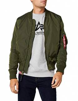 Alpha Industries Herren Jacke MA-1 TT, Grün (Dark Green 257), Small von Alpha Industries