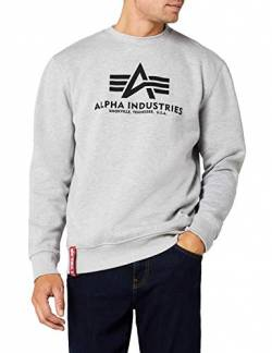 Alpha Industries Herren Basic Sweater Pullover, Grau (Grey Heather 17), Medium von Alpha Industries