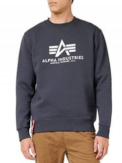 Alpha Industries Herren Pullover Basic blau L von Alpha Industries