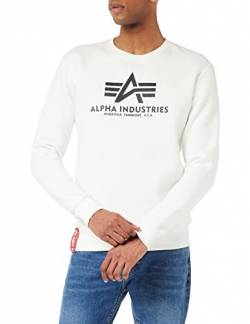Alpha Industries Herren Pullover Basic weiß 2XL von Alpha Industries