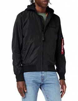 Alpha Industries MA-1 TT Hood Bomberjacke Black/Black von ALPHA INDUSTRIES