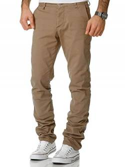 Amaci&Sons Herren Regular Slim Strech Chino Hose Fit 7009-10 Beige W34/L30 von Amaci&Sons