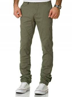 Amaci&Sons Herren Regular Slim Strech Chino Hose Fit 7009-10 Olive W30/L32 von Amaci&Sons