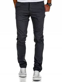 Amaci&Sons Herren Slim Fit Stretch Chino Hose Jeans 7010-09 Anthrazit W31/L32 von Amaci&Sons