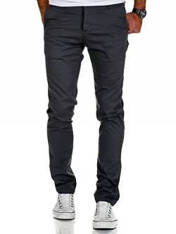 Amaci&Sons Herren Slim Fit Stretch Chino Hose Jeans 7010-09 Anthrazit W36/L34 von Amaci&Sons