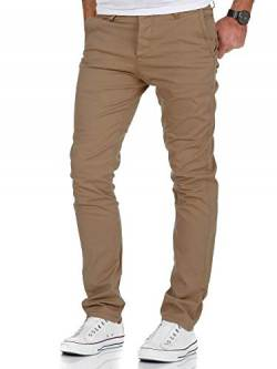 Amaci&Sons Herren Slim Fit Stretch Chino Hose Jeans 7010-09 Beige W33/L32 von Amaci&Sons