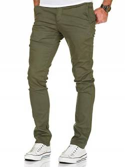 Amaci&Sons Herren Slim Fit Stretch Chino Hose Jeans 7010-09 Olive W36/L30 von Amaci&Sons