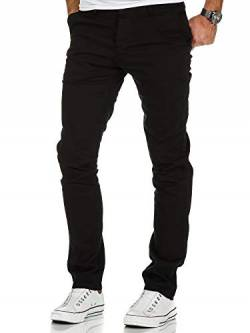 Amaci&Sons Herren Slim Fit Stretch Chino Hose Jeans 7010-09 Schwarz W32/L30 von Amaci&Sons