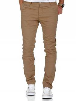 Amaci&Sons Herren Slim Fit Stretch Chino Hose Jeans 7100 Beige W38/L32 von Amaci&Sons